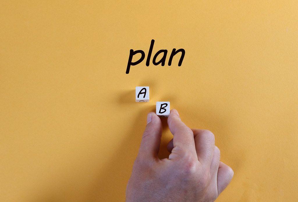 Hand choosing plan B