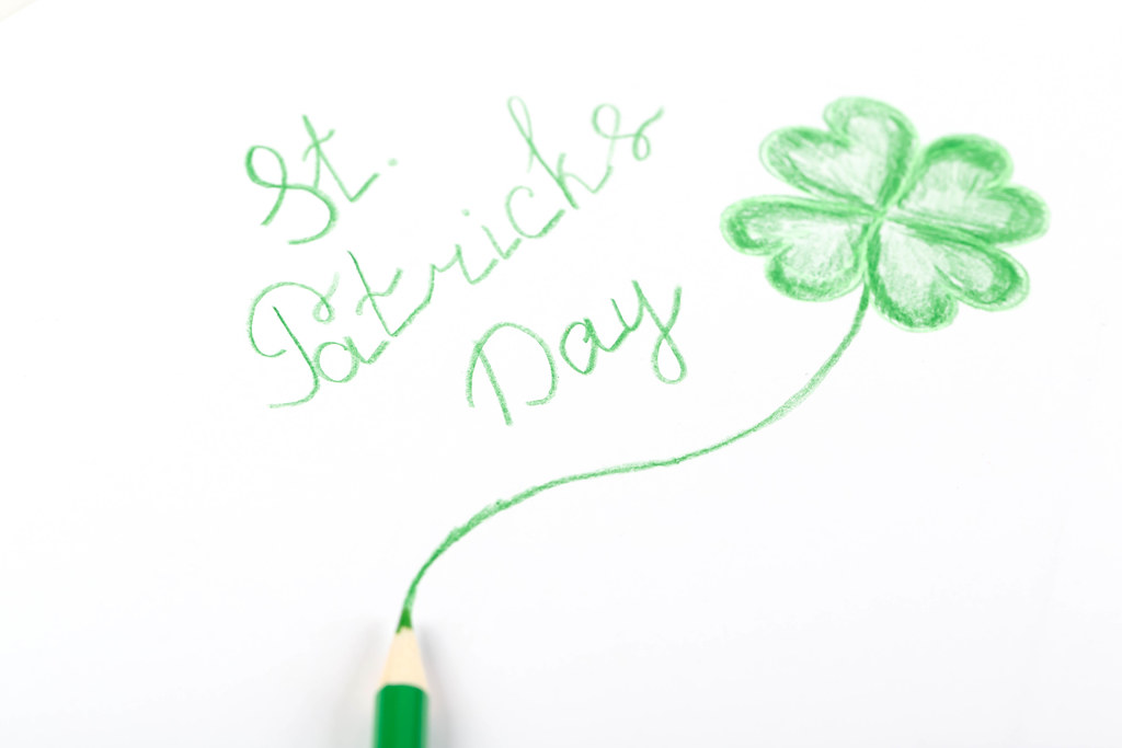 Hand drawn congratulation for st patrick