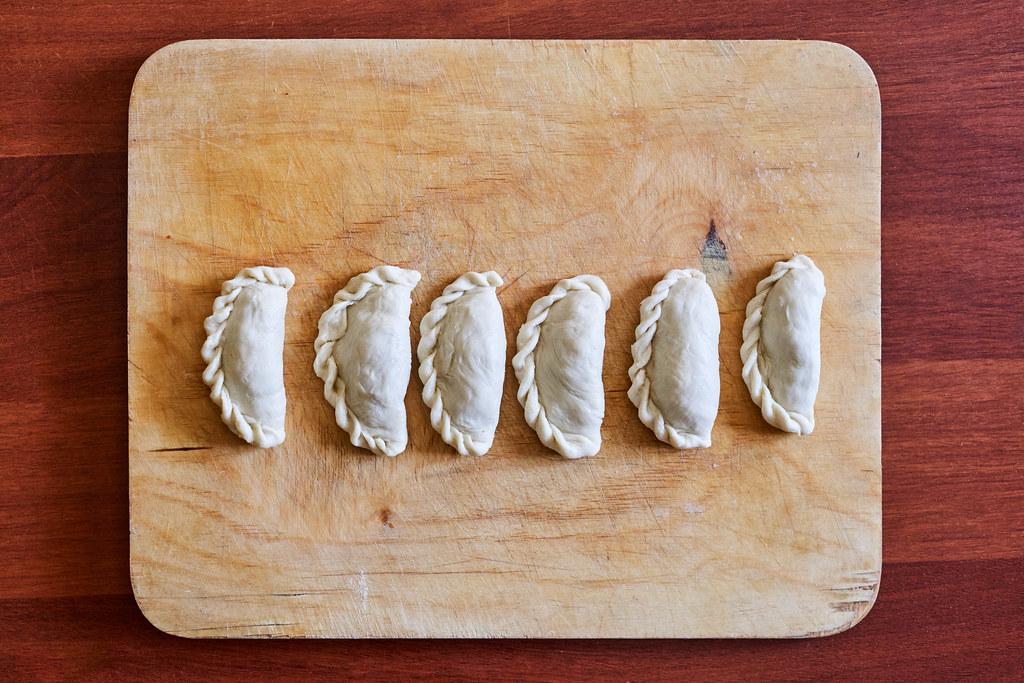 Homemade dumplings pastry tortellini or ravioli