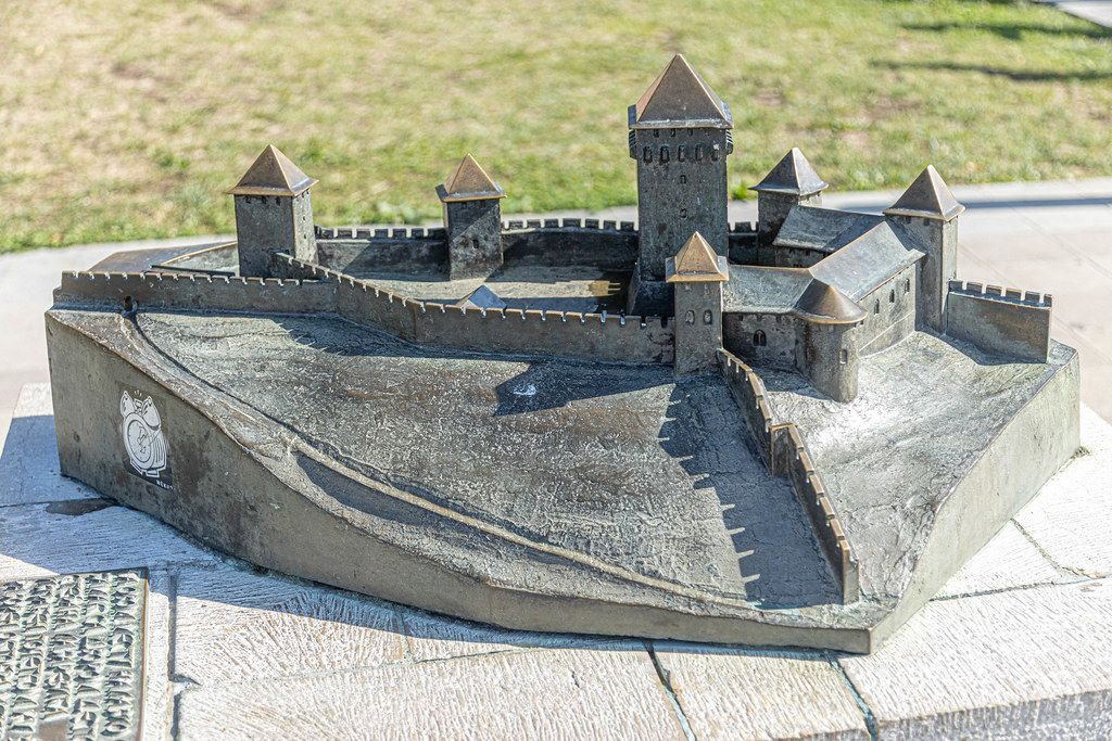 Kalemegdan Fort metal model in the Belgrade