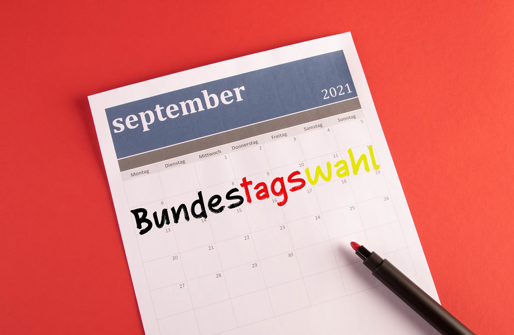 Kalender mit Bundestagswahl text