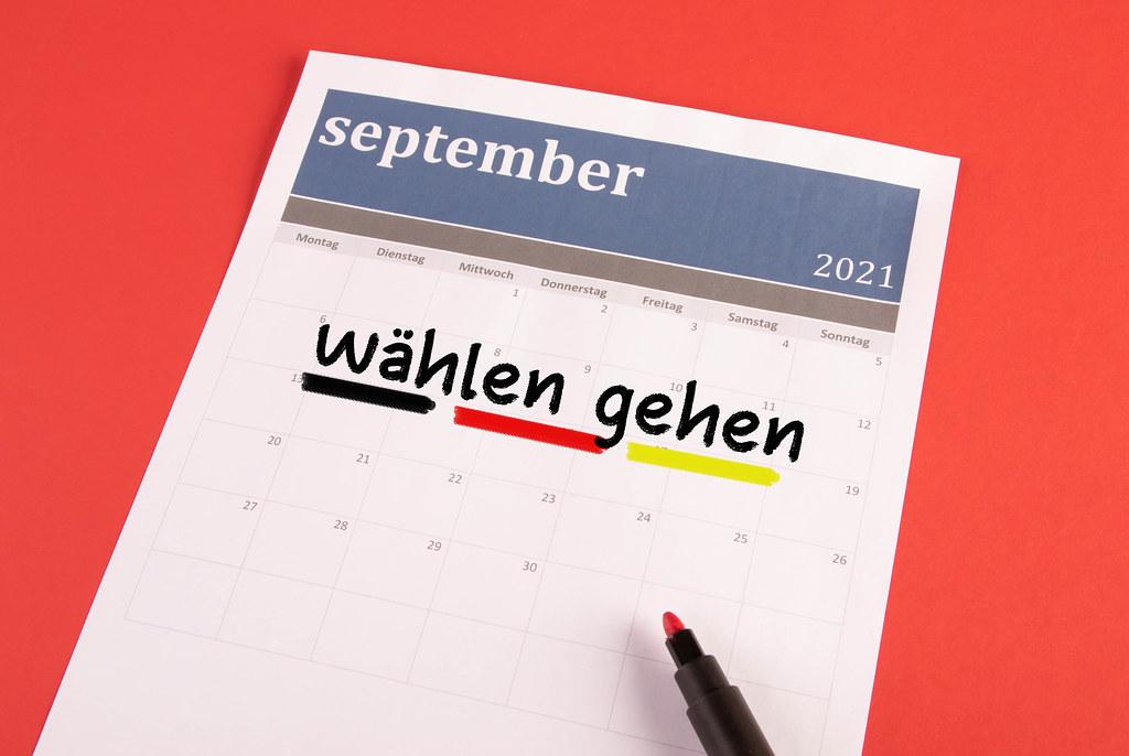 Kalender mit wählen gehen text
