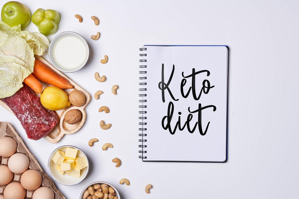 Keto diet - Healthy background