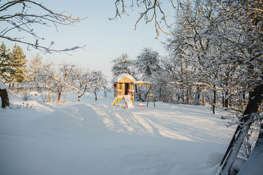 Kid Playground Outdoor Winter Countryside