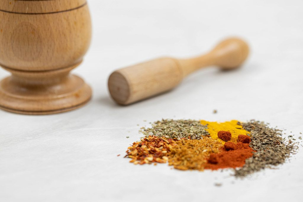 Kitchen Spices mixed on the table