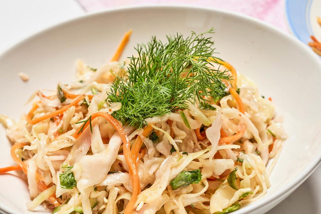 Korean style cabbage salad