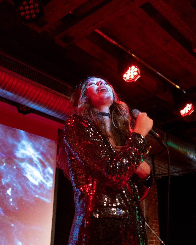 Lera Lynn singing solo during her show in Hamburg, Germany