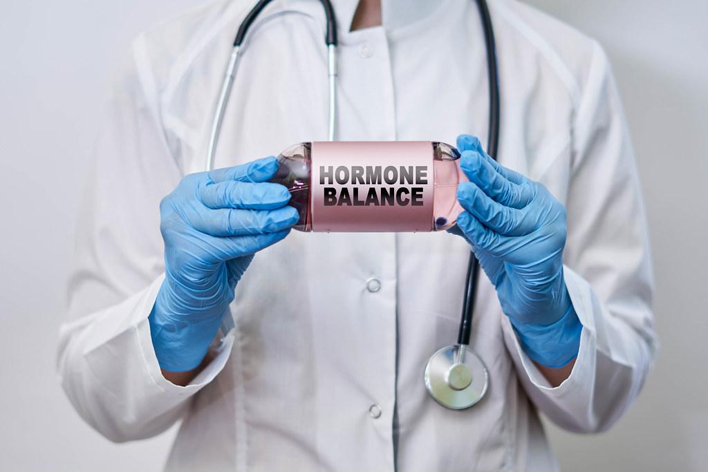Medical concept of hormone balance