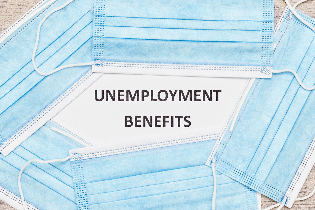Medical face masks and Unemployment benefits application form