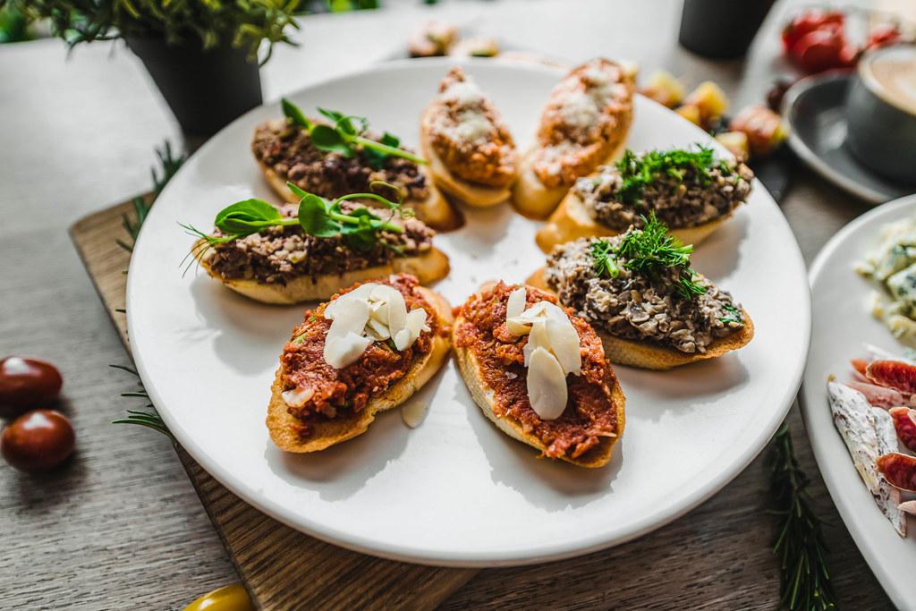 Mediterranean Antipast Asorti With Pesto And Almond