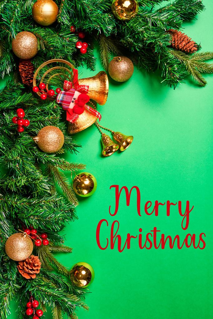 Merry Christmas festive greeting card