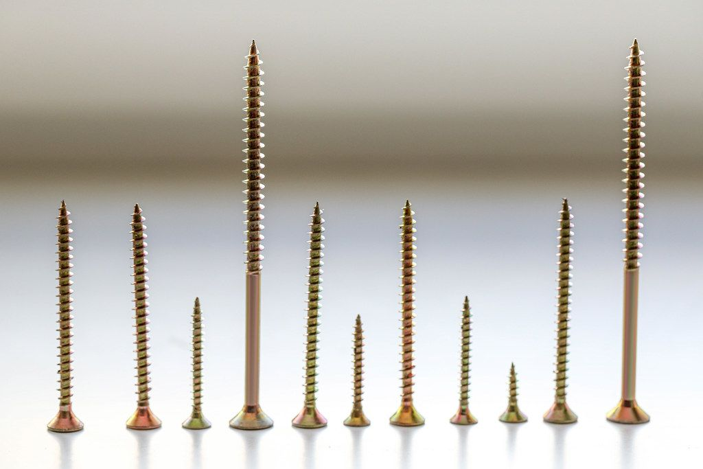 Metal screws of different sizes