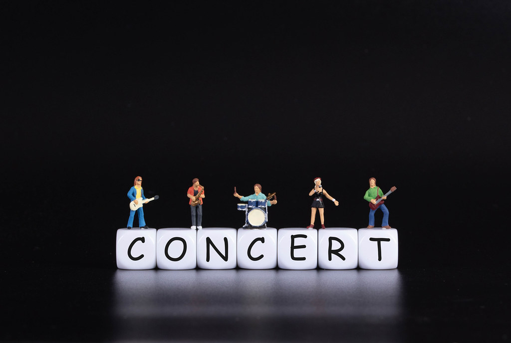 Miniature band with Concert text