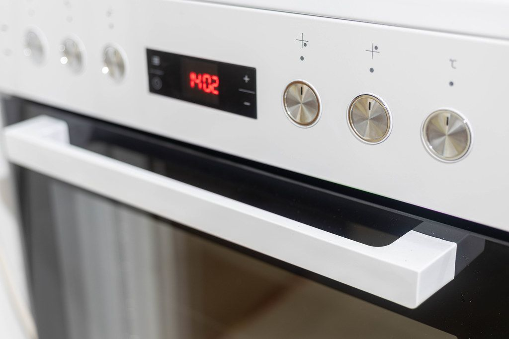 Modern Kitchen Stove closeup image