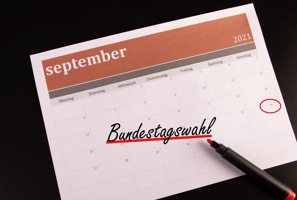 Monatskalender eingekreist Bundestagswahl in September