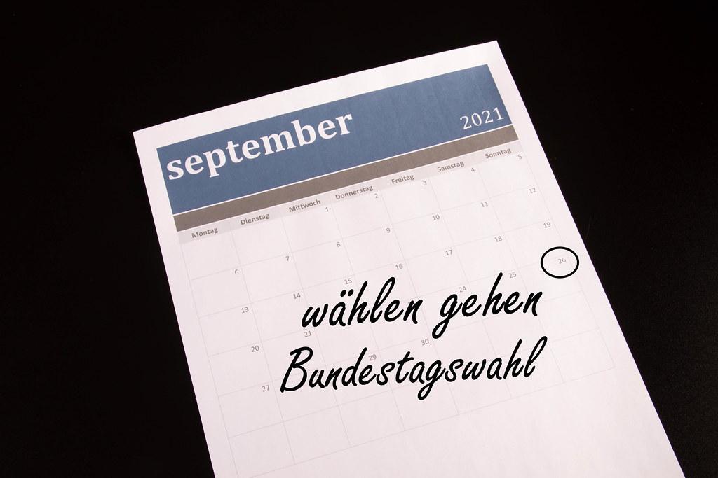 Monatskalender eingekreist Bundestagswahl