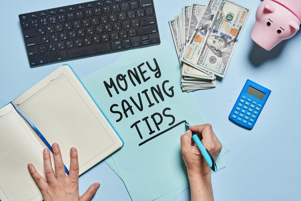 Money saving tips concept