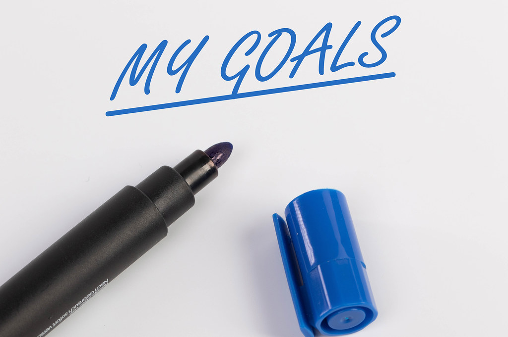 My Goals text with blue marker pen