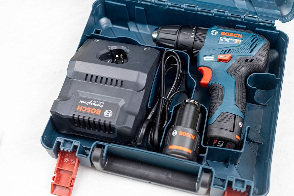 New Bosch Acu drill in the plastic case
