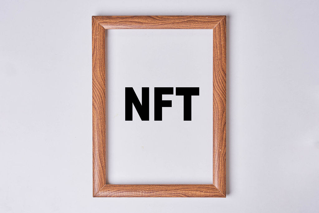 NFT art in the painting frame