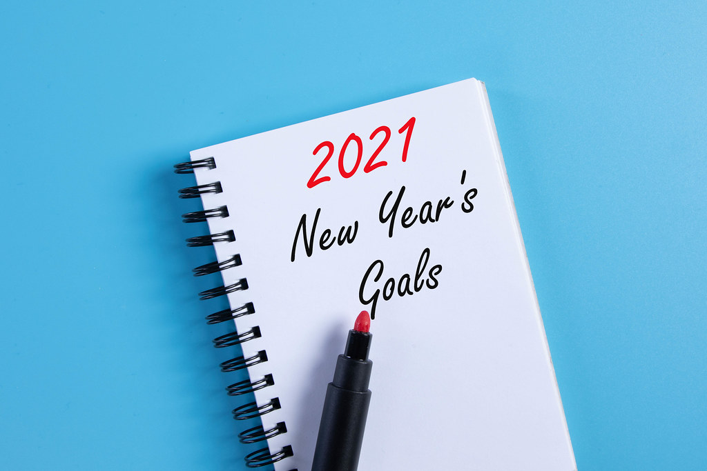 Notebook with 2021 New Year
