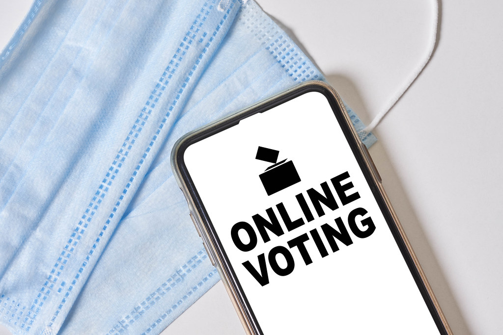 Online voting and face masks