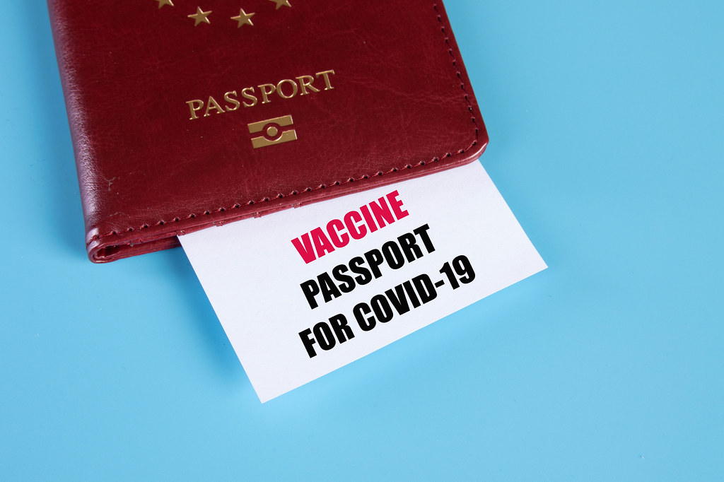 Passport and Covid-19 vaccination certificate