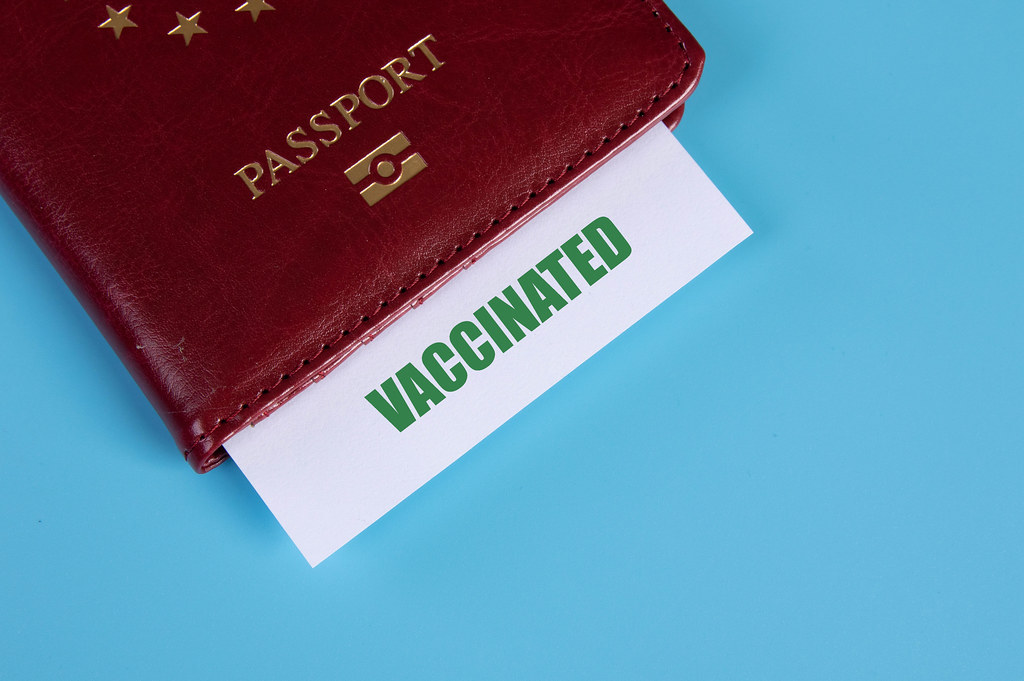 Passport with Vaccinated card