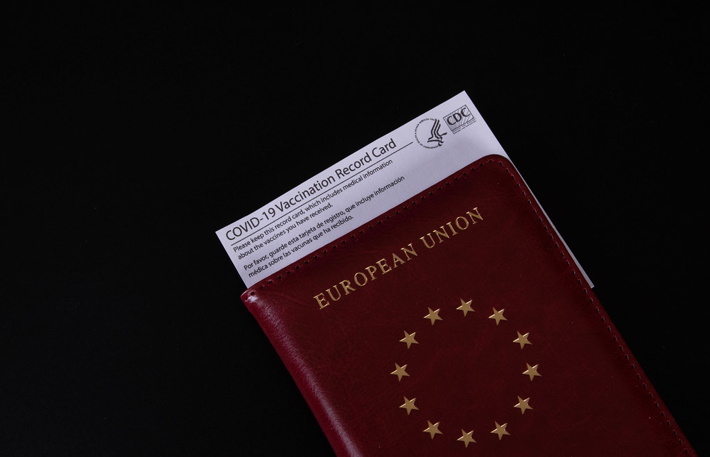 Passport with Vaccination record card