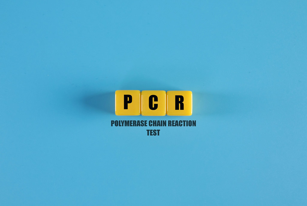 PCR text on yellow cubes