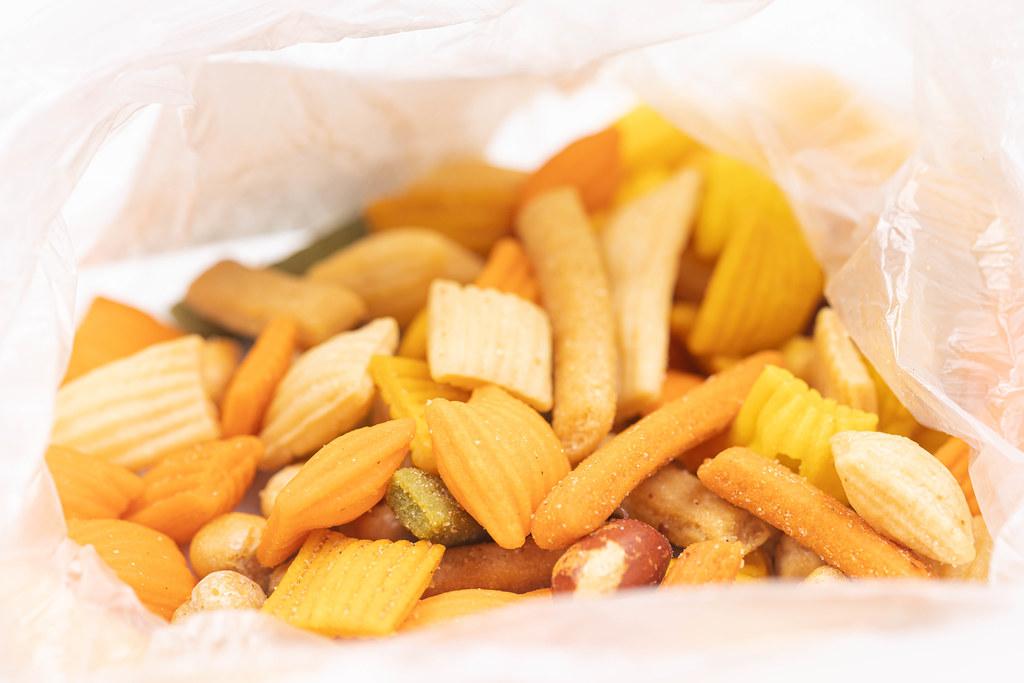 Peanut Snacks in the plastic bag