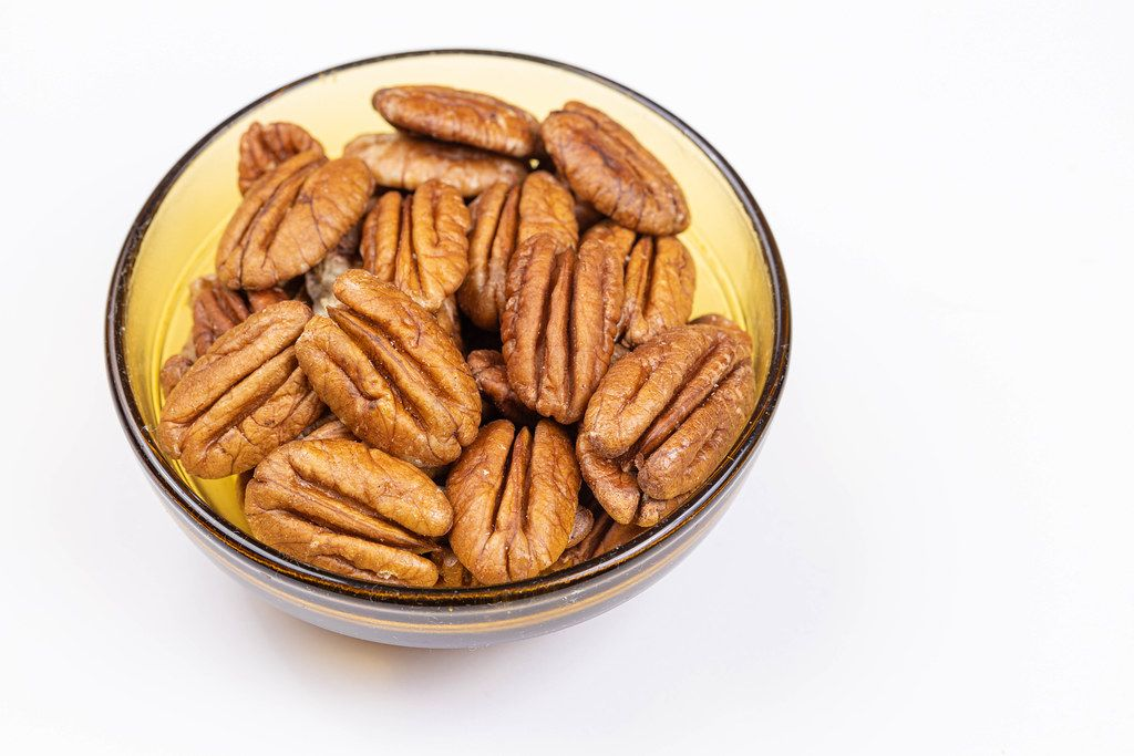 Peckans Nuts served in the bowl