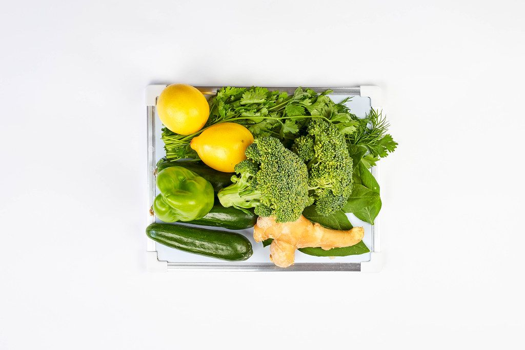Pile of healthy and organic vegetables and fruits