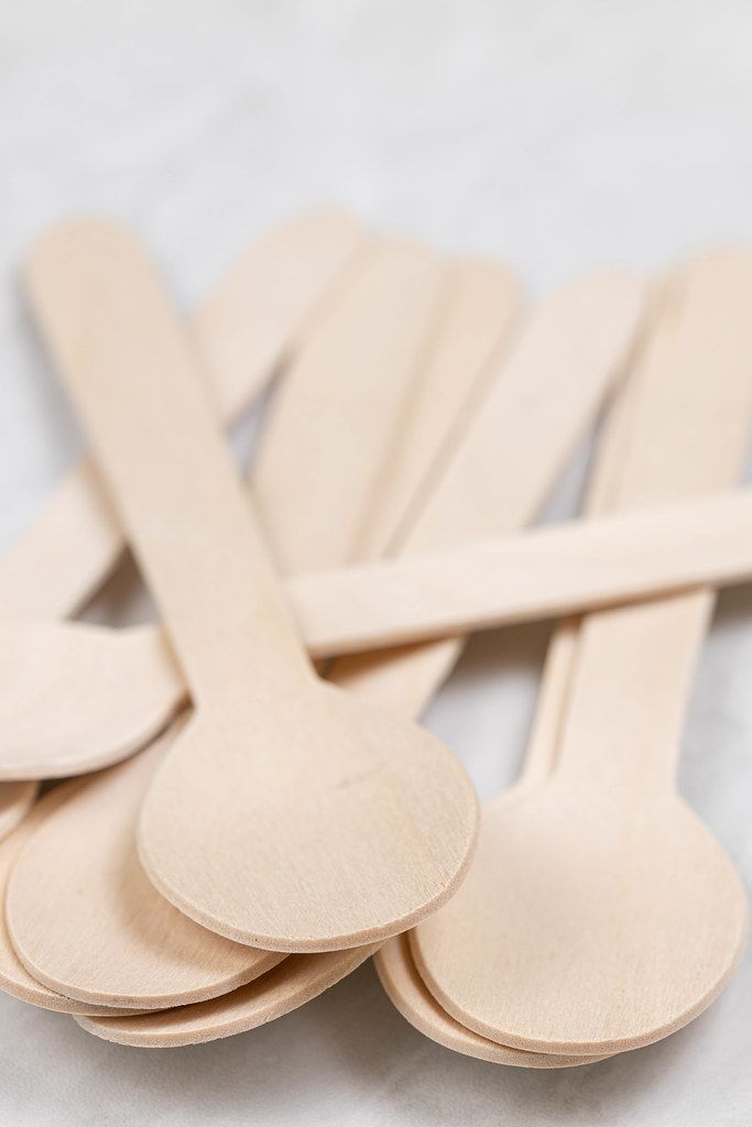 Pile of Wooden Spoons