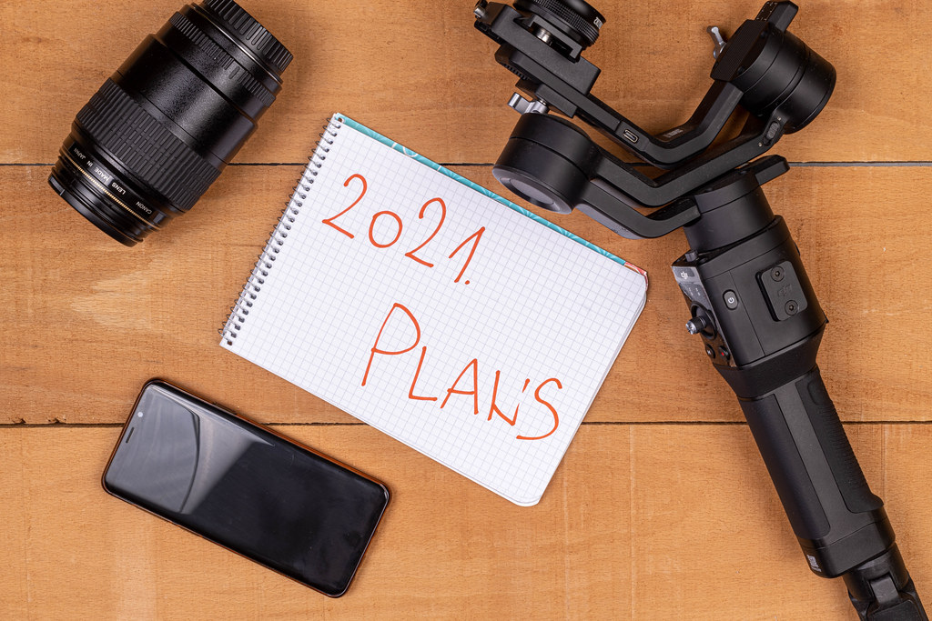 Planning concept of 2021 with Photography equipment