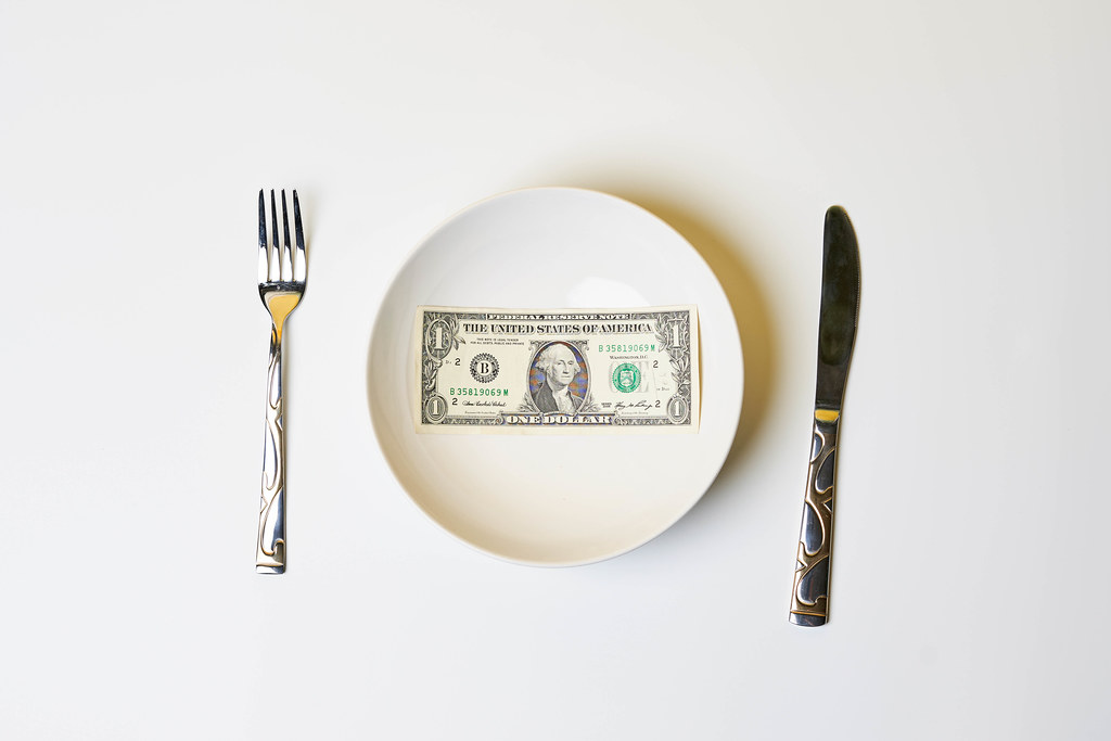 Plate with dollar bill