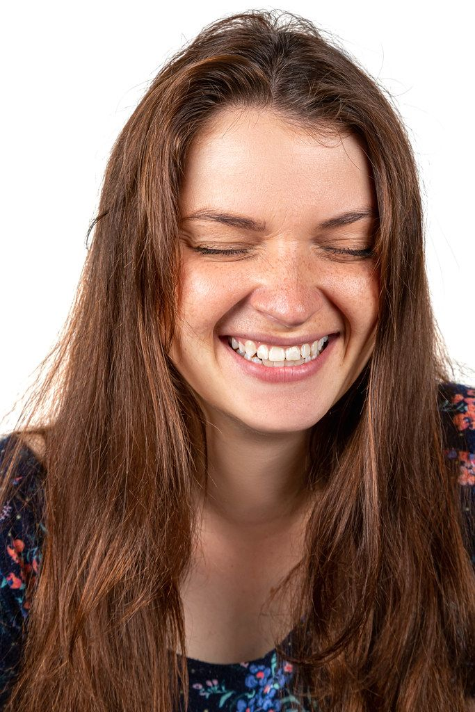 Portrait of a fun laughing girl