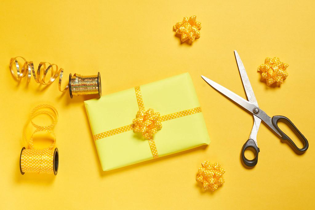 Preparing birthday present