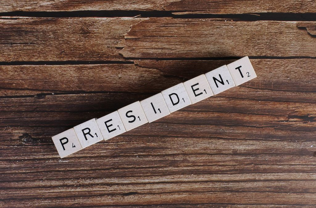 President written on wooden blocks