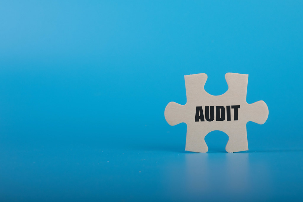 Puzzle piece with Audit text