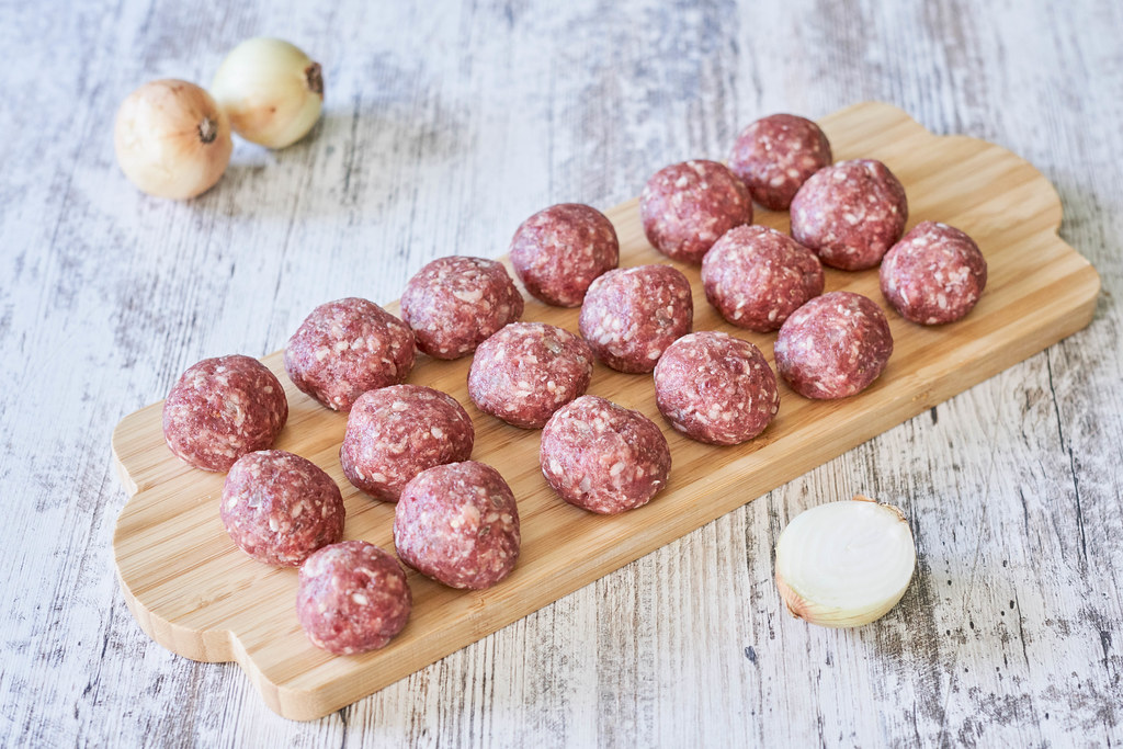 Raw minced meat beef cutlets