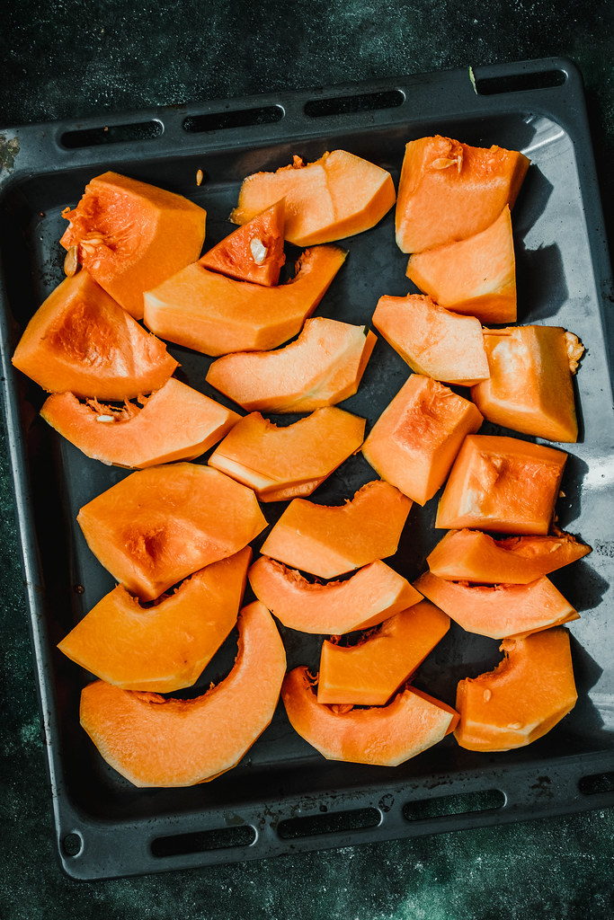 Raw Pumkin Slices Ready To Cook