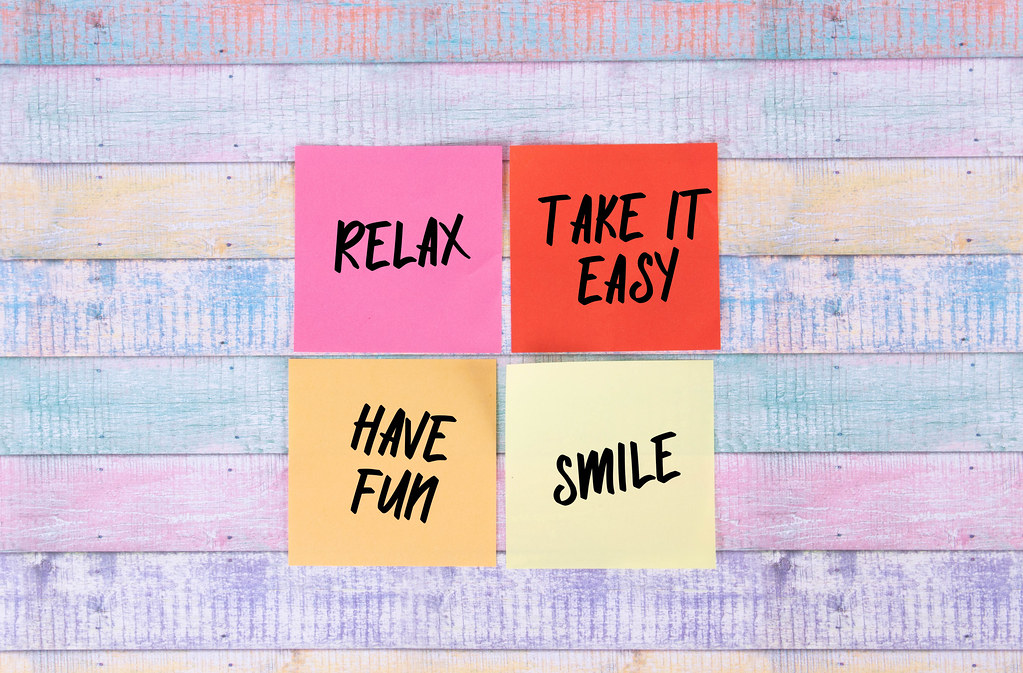 Relax, Take it Easy, Have Fun and Smile - sticky notes set