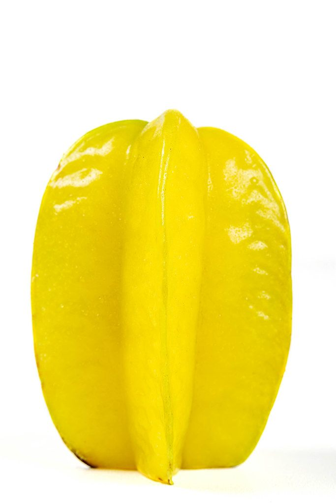 Ripe star fruit carambola or star apple