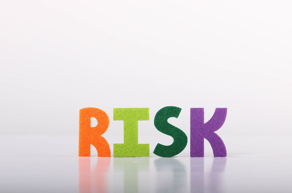 Risk text on white background