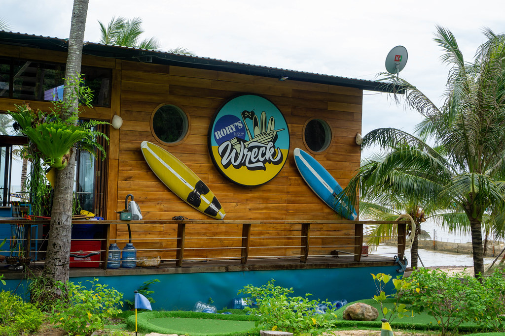 Rory's Beach Club Wreck House with Bar, Mini Golf and Natural Swimming Pool on Phu Quoc Island, Vietnam