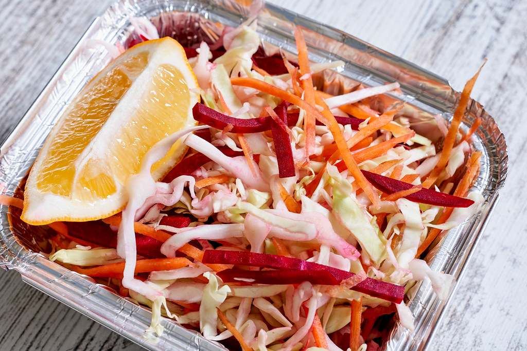 Salad of cabbage, beets and carrots - pickled vegetable