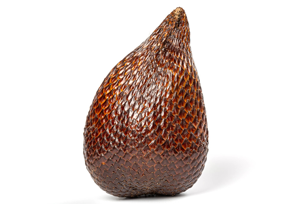 Salak fruit or snake fruit over white background