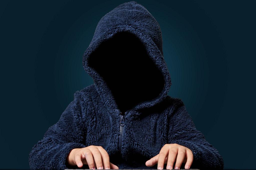 Scary computer hacker