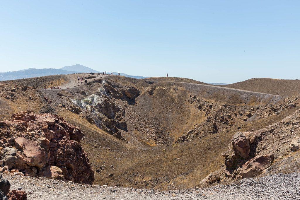 Sehenswürdigkeiten auf Santorin: Vulkanwanderung, Ausflug zum Kraterrand